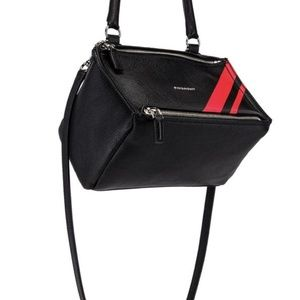 Givenchy Bags - Givenchy Red Stripe Small Pandora Shoulder Bag